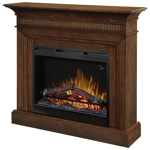 574 CAD BestBuy - Dimplex Harleigh Freestanding Electric Fireplace (DFP26L-1475WN) - Walnut : Indoor Fireplaces - Best Buy Canada