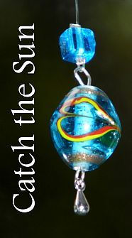Beaded Sun Catchers I raided my bead drawer for all the sparkly beads I had and I made these sparkly sun-catchers on a stormy, ...