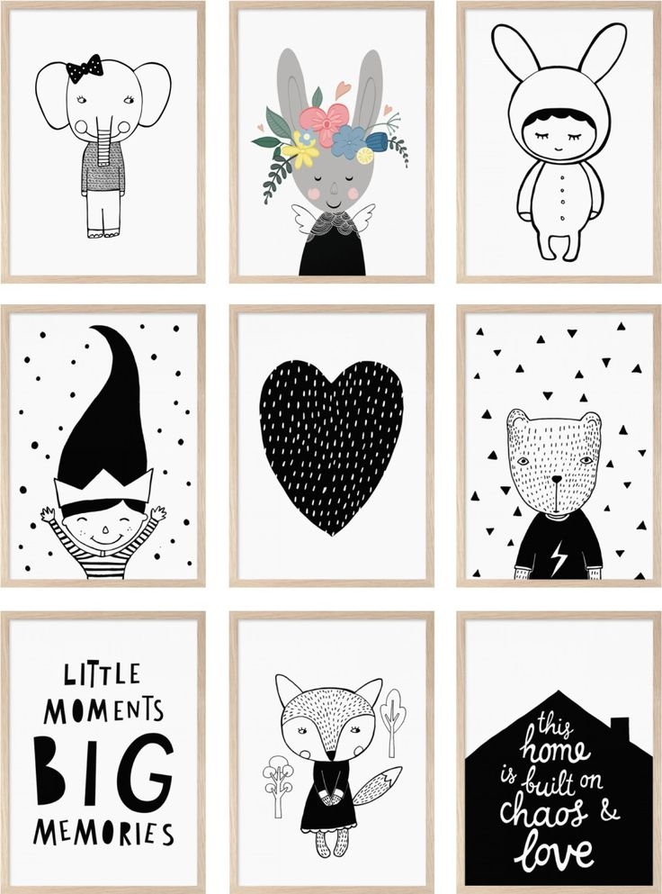 The cutest black and white prints