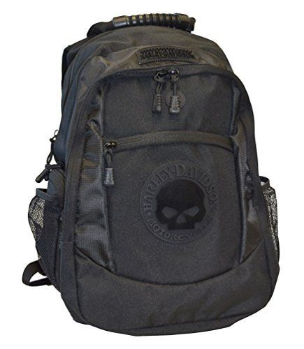 Harley-Davidson Men's Willie G. Skull Classic Back Pack - Black BP1962S-Black  Price : $94.95 http://www.wisconsinharley.com/Harley-Davidson-Mens-Willie-Skull-Classic/dp/B00KOA01UA
