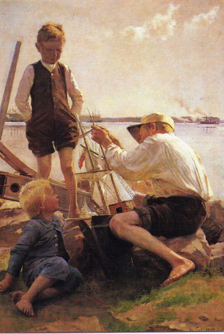 Albert Edelfelt - Båtbyggare (Shipbuilder) @ Porvoo