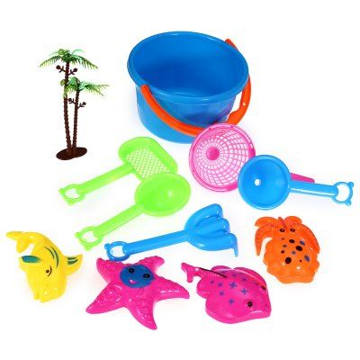 10pcs / Set Sand Beach Tool Kid Bucket Outdoor Toy for Child #hats, #watches, #belts, #fashion, #style
