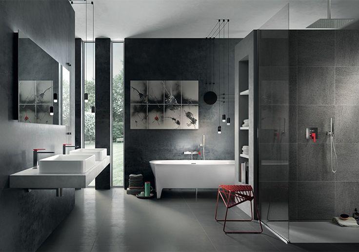 Ванная комната краны нарисованный цветной куб коллекции, дизайна от Marco Pisati