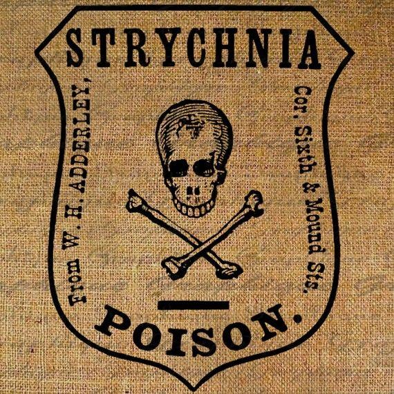 Poison Symbol Skull Crossbones Words Text Chemical