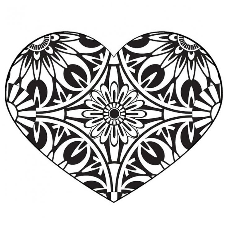 125 best abstract coloring pages images on pinterest for Abstract heart coloring pages