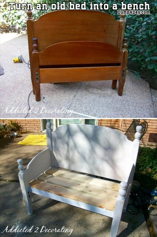 a-turn-an-old-bed-into-a-bench.jpg (620×933)