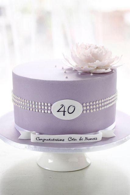 Tiffany pearl inspired anniversary cake by Bake-a-boo Cakes