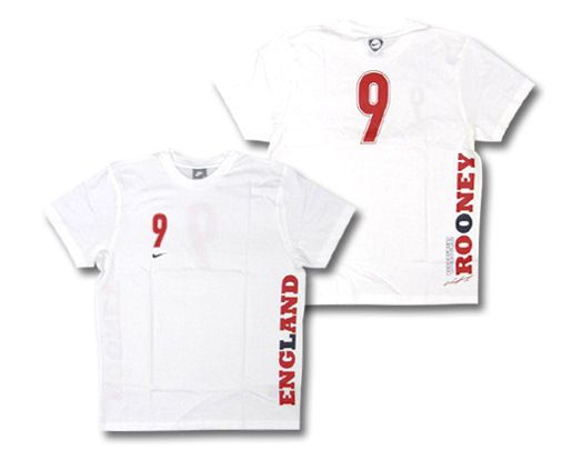 Rooney NEW England kit England England Nike 08-09 England Rooney T-Shirt (white) - Kids Official http://www.comparestoreprices.co.uk/t-shirts/rooney-new-england-kit-england-england-nike-08-09-england-rooney-t-shirt-white--kids.asp