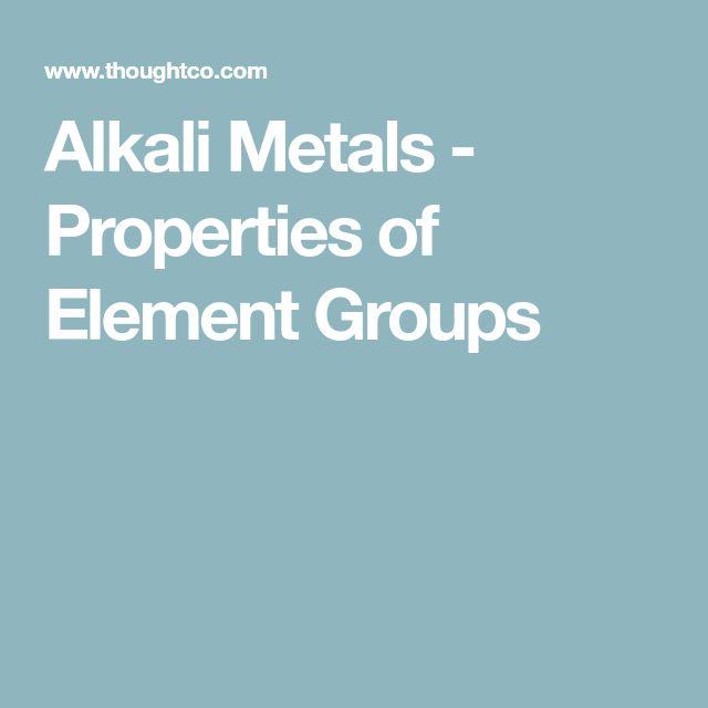 Alkali Metals - Properties of Element Groups