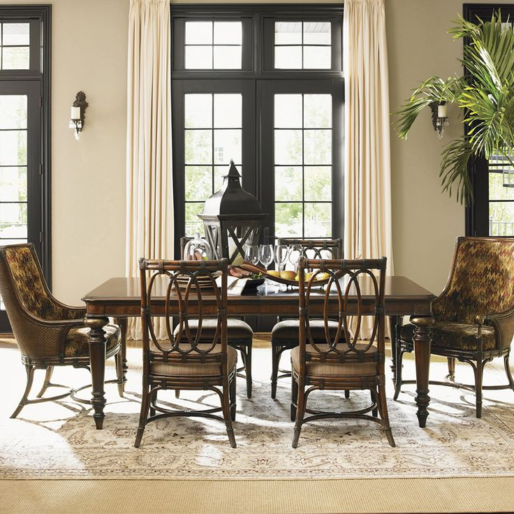 Tommy Bahama Home Landara Pelican Hill Dining Table In Rich Tobacco