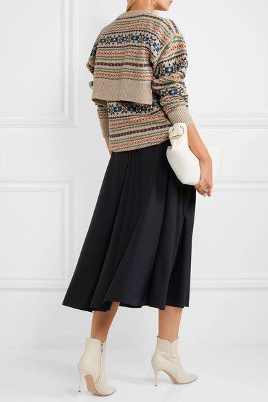Joseph   Layered intarsia wool sweater   NET-A-PORTER.COM