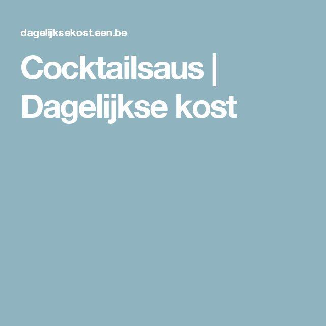 Cocktailsaus | Dagelijkse kost