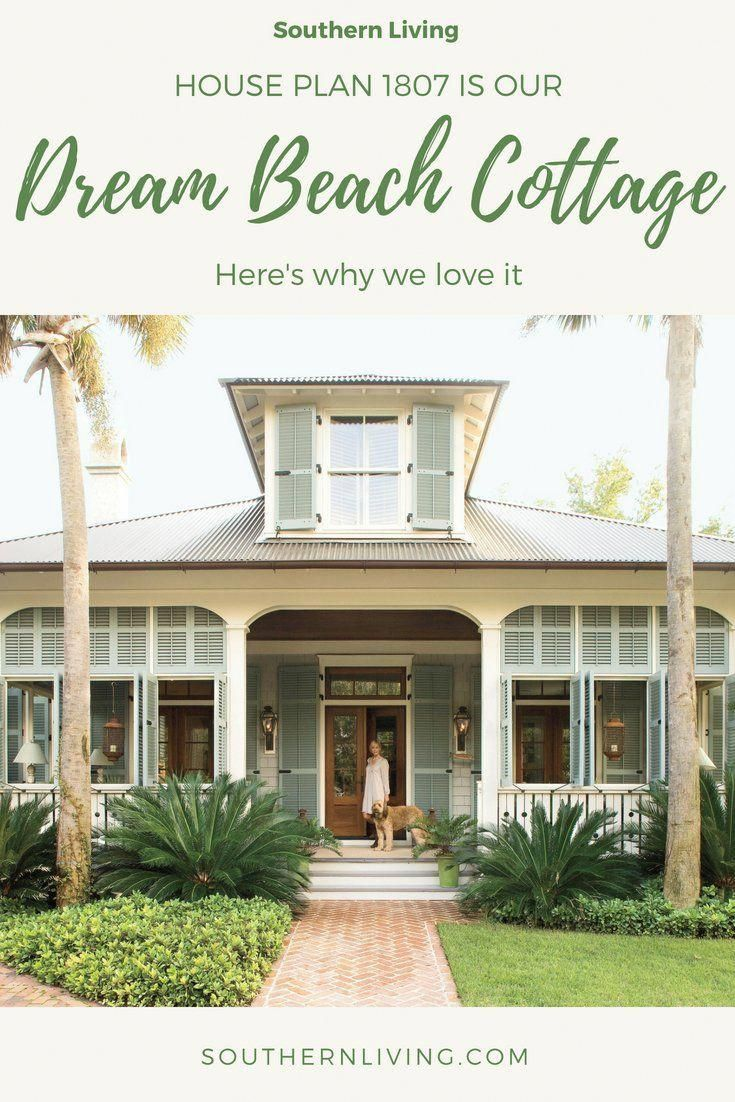 This Unique Cottage On The Beach Is A Really Inspirational And Wonderful Idea Cottageonth In 2020 Southern Living House Plans Beach House Exterior Beach Cottage Style