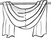 How to Make Scarf Swags for Your Windows - For Dummies