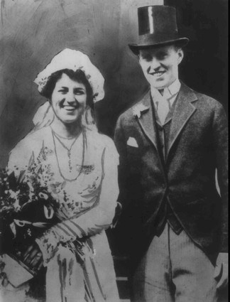 Rose Kennedy, who died Sunday Jan. 22 1995 at the age of 104, is shown with her husband Joseph P. Kennedy on their wedding day in Boston in1914.