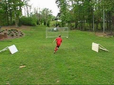 soccer rebounder - YouTube
