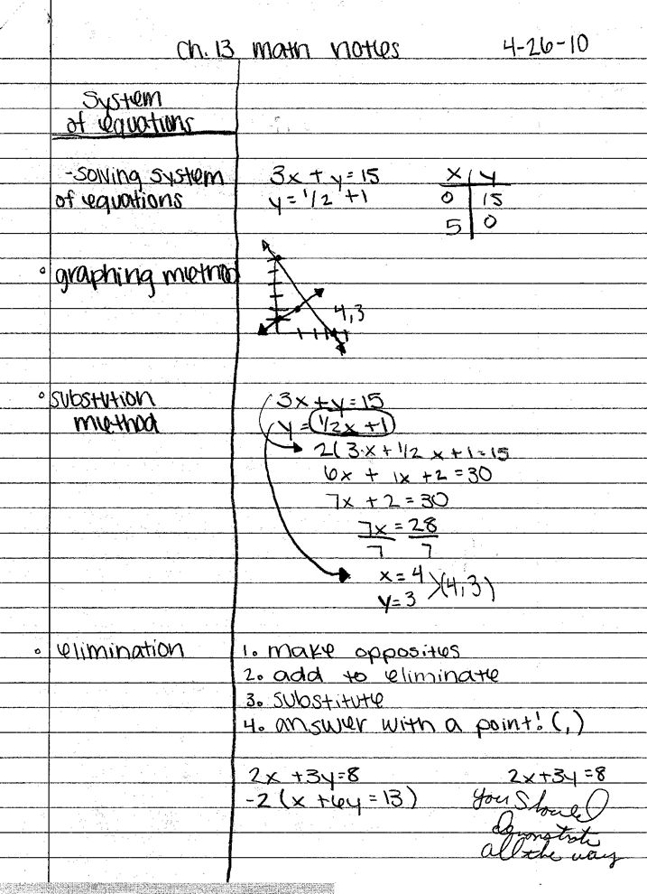 Best  Math Cornell Notes Ideas On   Cornell Notes
