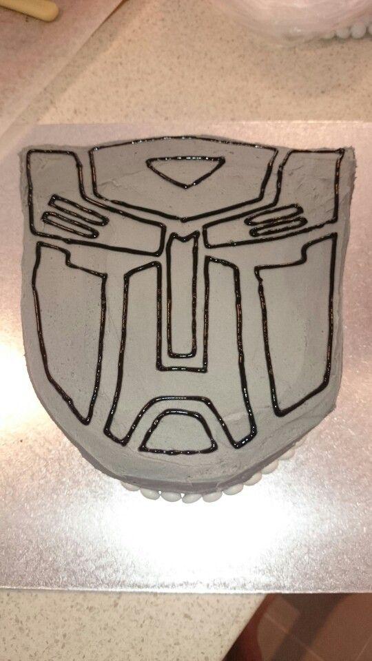 Transformers autobot buttercream cake