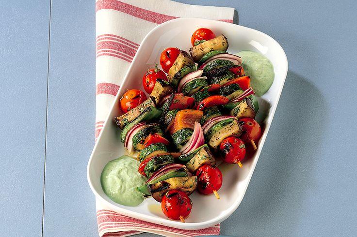 Spiedini di verdure e salsa fiordilatte