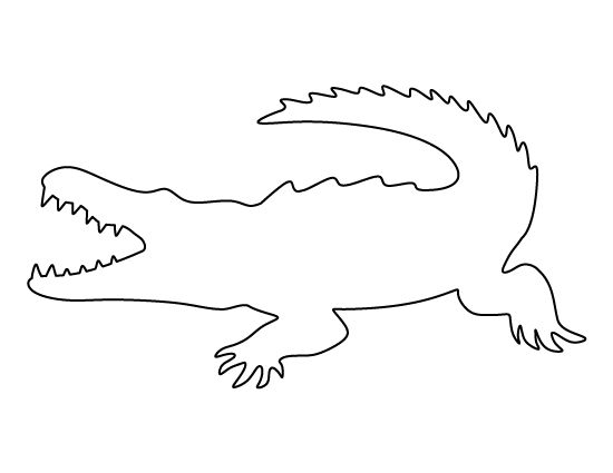 template of crocodile crocodile pattern use the printable outline for crafts