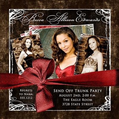 Photo Trunk Party Invitation - Send Off College Woman