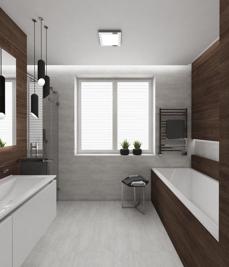 Architect Katka Petkovšek for Perfecto design: Modern bathroom MONACO