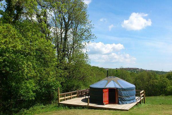 Glamping in a Yurt at Cwm Tawel Luxury Yurts Cwmcedfyw Farm, Lletty Brongu Llangynwyd Bridgend  Wales  CF34 0EA