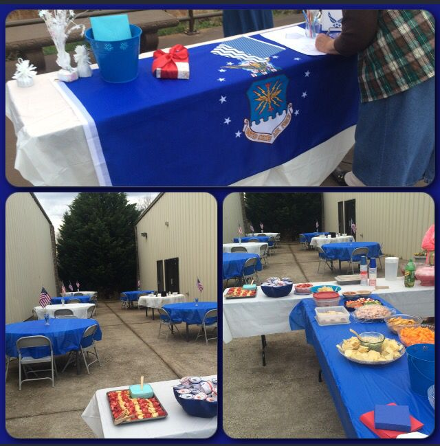 Small Air Force Basic Training Going Away Party USAF BMT