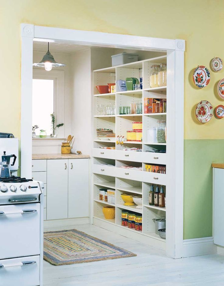 I love this kitchen cubbie to serve as the Pantry and a work area. I would like a sink , garbage disposal and dish washer in here with ample storage bins/wire baskets for fresh produce; ie, onions, potatoes, etc. (and of course a trash compactor and recycling bin out of sight!)