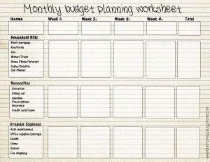 printable budget template