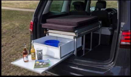 Camping Box VW Sharan (oder Caddy) schlafen / camping / Reise