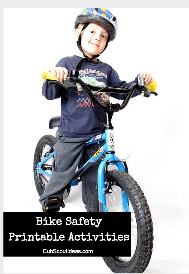 Make sure your Cub Scout knows all the bicycle safety rules by using these great printables. You'll also find resources for planning your own bike rodeo.