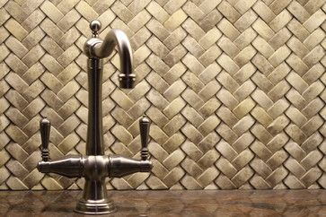 Quot Braided Quot Basket Weave Tile Backsplash The Nest