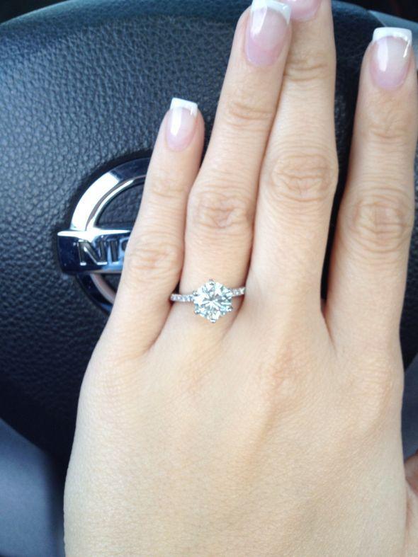 """Thin diamond band... RING OF MY DREAMS!""  eeeeekk ! this IS my ring! gosh, my fiance is a beast!"