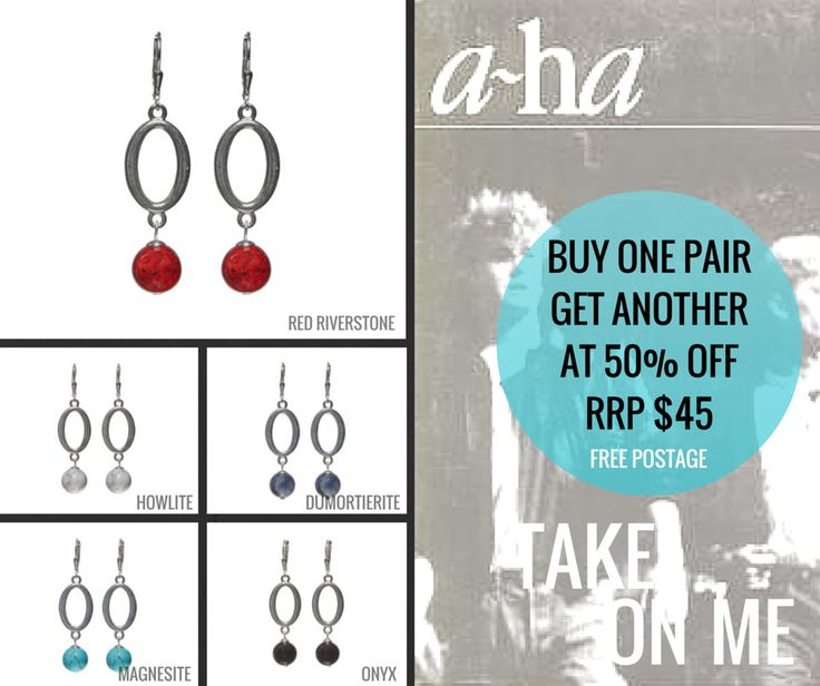 Limited offer until 19th April 2015. Shop here: http://www.jetempire.com.au/collections/earrings/products/take-on-me