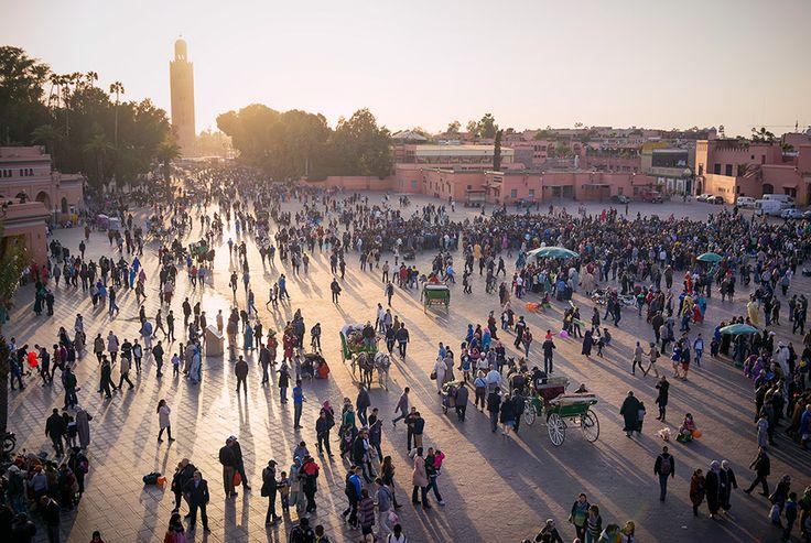 Закат над площадью Джема эль-Фна #Morocco