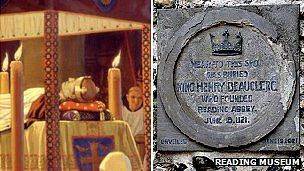 Painting of Henry's funeral and plaque at Reading Abbey.: England S Royals, Grave Sites, Missing Graves, Things Royal, Royal Family, News, England Sewn