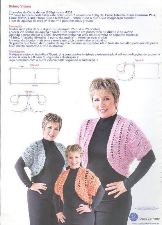 casacos com fio meigo - Pesquisa Google