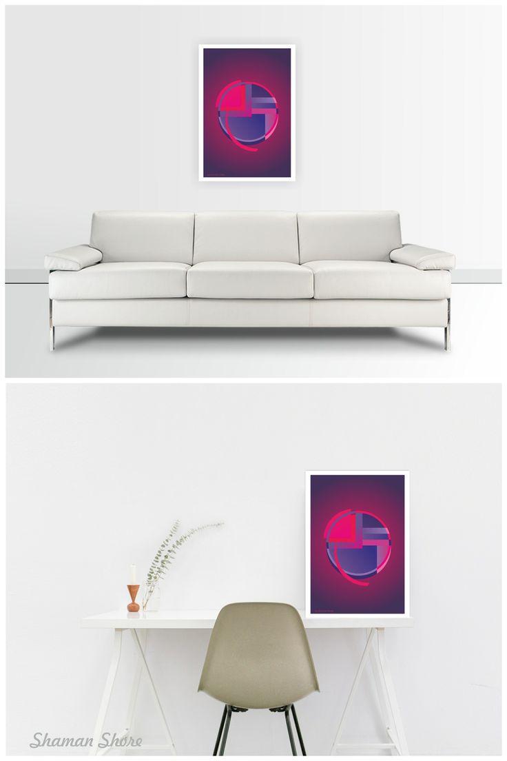 Magenta Wall Decor Art Print Digital Download, Printable Abstract Wall Art, Contemporary Art Poster, Modern Home Décor, Abstrakte Wanddekor, Decoración abstracta de la pared, Decoração de parede abstrata