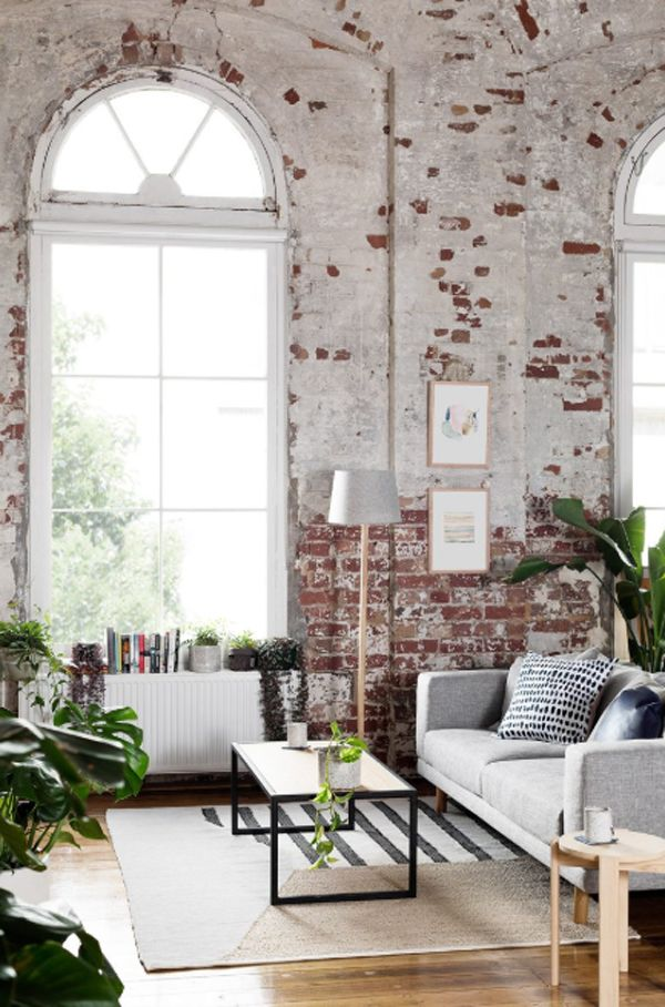Pretty Warehouse Apartment With Exposed Brick Walls Loft