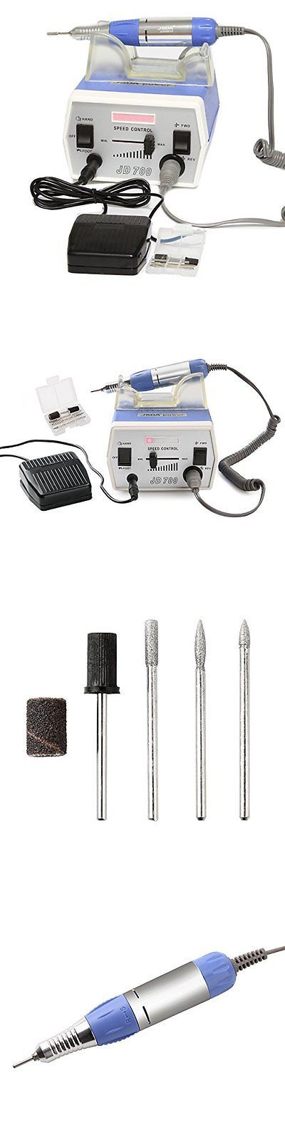 Electric Files and Tools: 30000Rpm Nail Drill Machine Electric Nail File Foot Pedal Acrylic Bits Set Hi... BUY IT NOW ONLY: $71.22