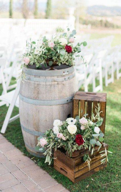 33 ideas for wedding ceremony decorations aisle wine barrels