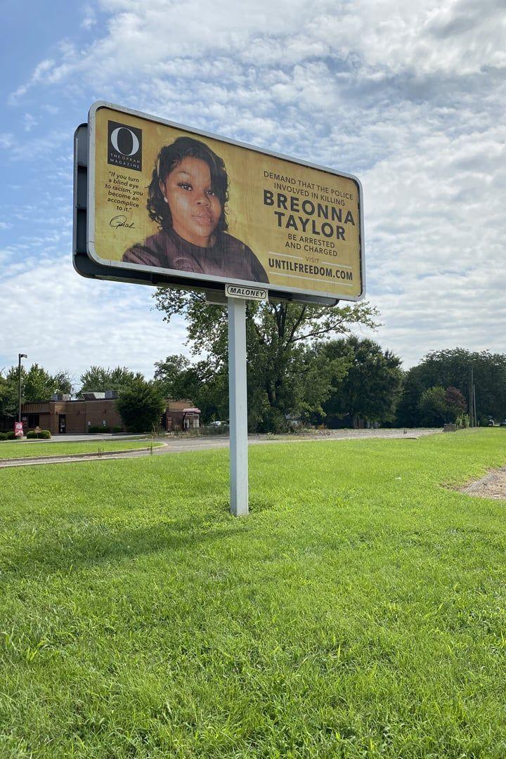 O Magazine S Billboards Demanding Justice For Breonna Taylor In 2020 Digital Portrait Billboard Social Justice