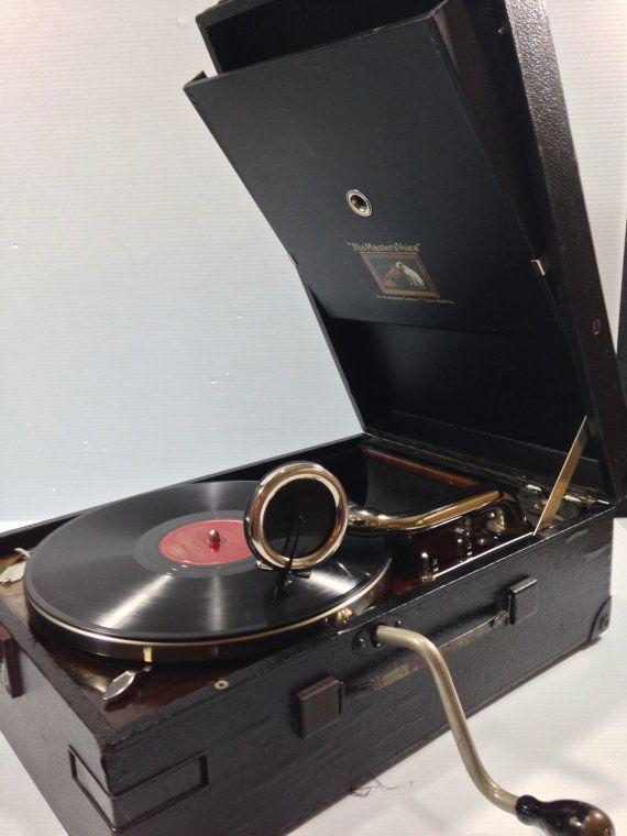 Vintage Rca Victrola 35 Portable Victrola By
