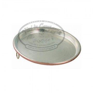 www.viviincampagna.it - #Teglia rame d.30 ideale per #farinata e cotture in forno