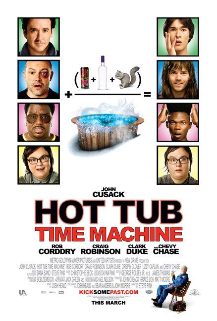 Hot Tub Time Machine (2010): A malfunctioning time machine at a ski resort takes a man back to 1986 with his two friends and nephew, where they must relive a fateful night and not change anything to make sure the nephew is born.