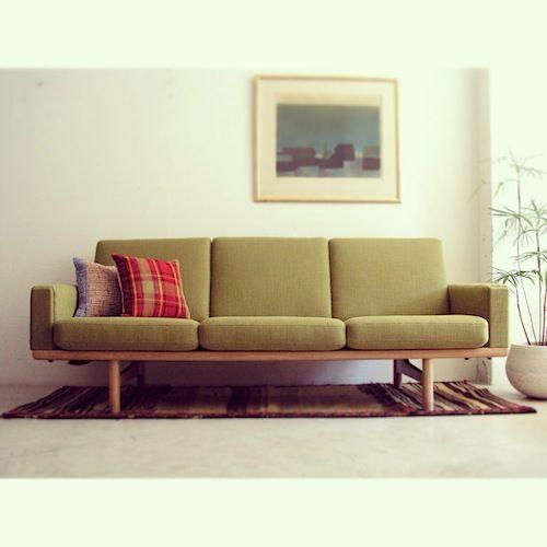 large sofa GE236 / 3 by Wegner