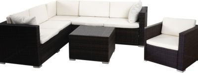 heute-wohnen Poly-Rattan-Garnitur ROM Basic, Sofa Sessel Lounge-Set, Alu Jetzt bestellen unter: https://moebel.ladendirekt.de/garten/gartenmoebel/loungemoebel-garten/?uid=b9b31ee5-50e0-5253-978d-e15136936a2b&utm_source=pinterest&utm_medium=pin&utm_campaign=boards #loungemoebelgarten #garten #gartenmoebel