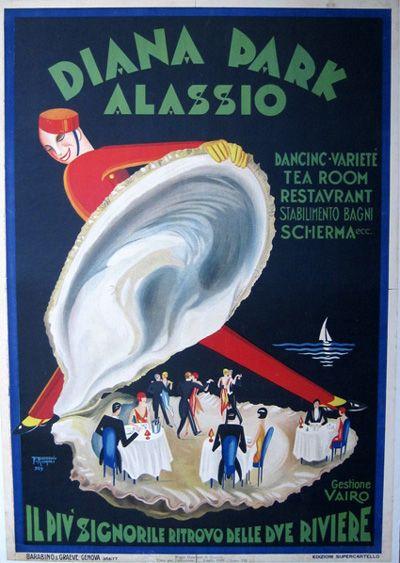 Diana Park Alassio (Liguria) italy 1929 by Filippo Romoli - #riviera #essenzadiriviera www.varaldocosmetica.it : i cosmetici naturali all'olio extravergine di oliva della Riviera.
