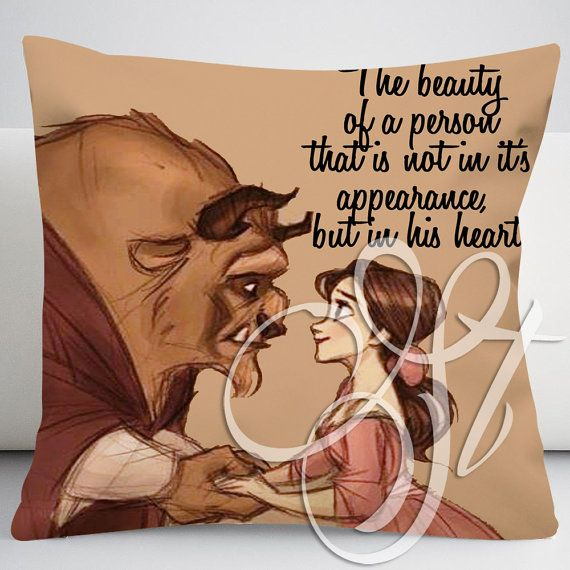 disney beauty and the beast quotes - 004 Square Pillow Case on Etsy, $13.27